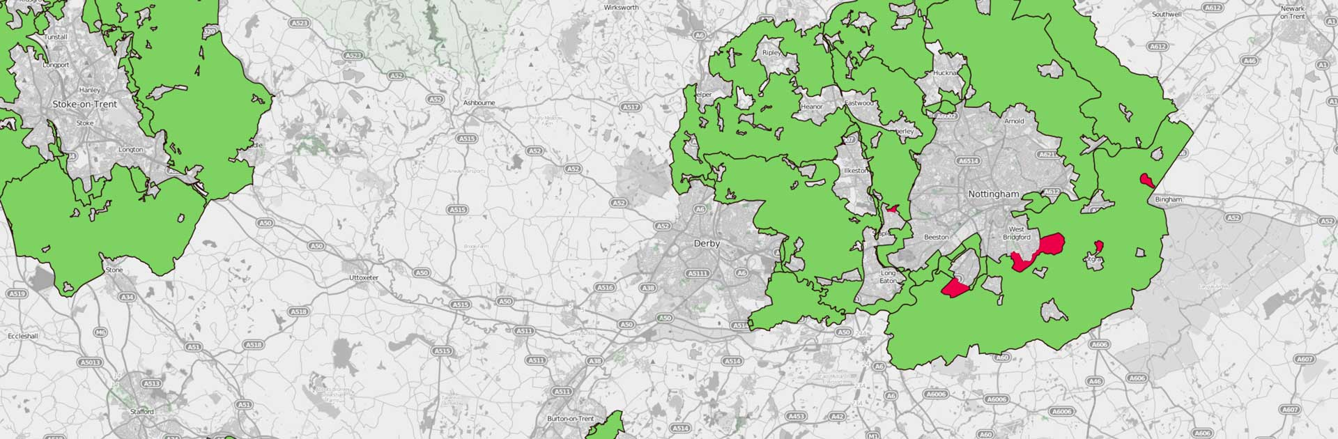 Green Belt Interactive Map